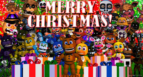 FNAF World merry christma! by centenomariaelena