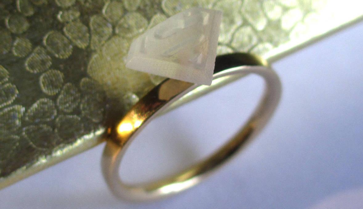 Superhero Solitaire Kara Wedding Ring by JeremyMallin