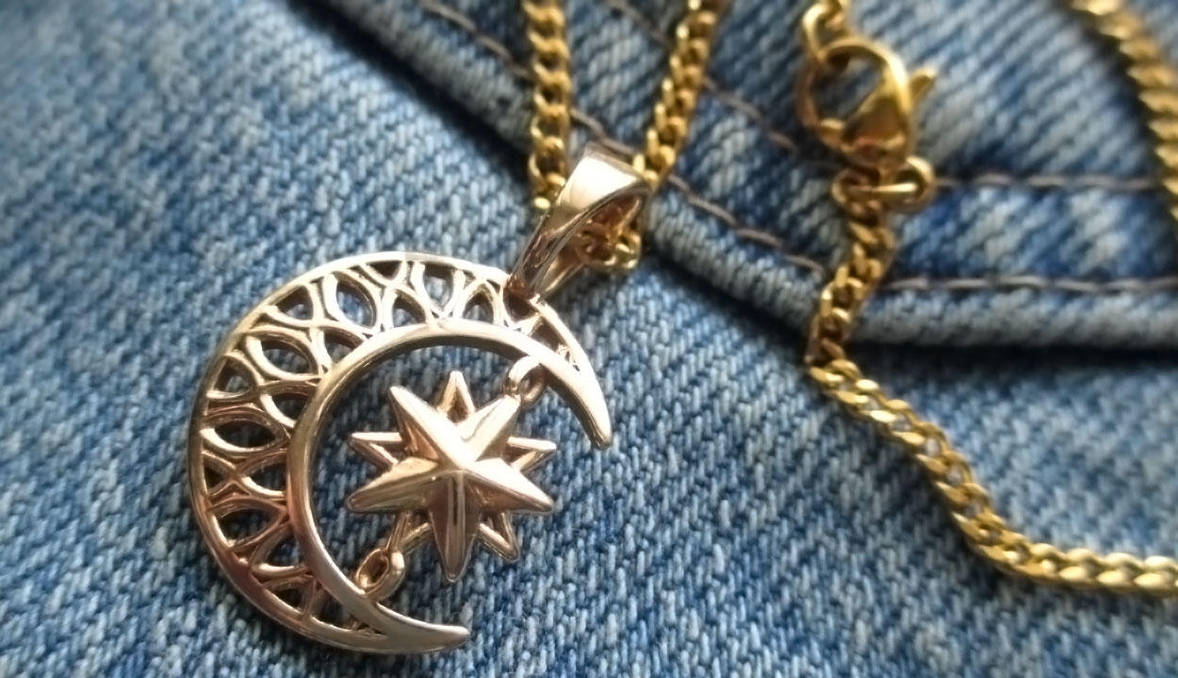 Crescent Star Charm Pendant by JeremyMallin