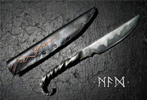 Twisted Handle Knife by sqeezplay