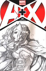 A+X: Blank Cover Scarlet Witch by bernce