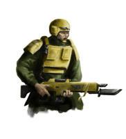 Imperial Guardsman by MasterAlighieri