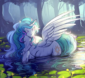 Princess in the water. by 1AN1