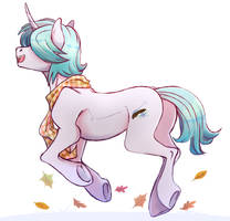 Running through leaves. by 1AN1