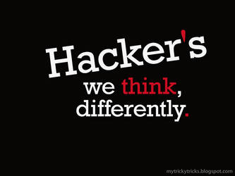 Hackers We Think Differently- mytrickytricks.com by sanketmisal