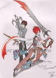 Bujingai Swordmaster-3 colored by Dragoonsa