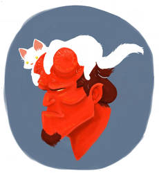 Hellboy by fossick