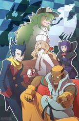 Elite Four Challenges You by silverava