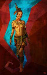 Calakmul Princess by BalamTzibtah