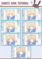 coloring hair in manga studio 5- kuro's way- by Sternenmelodie