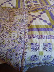 Purple and green quilt details by Lesh4537