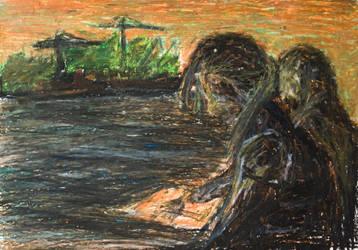 Tessa and Mariken on the Bay by mazurada