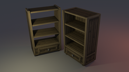 Low poly Shelf by lithium-sound