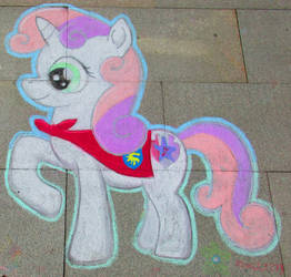 Chalk Sweetie Belle - GalaCon2018 by Malte279