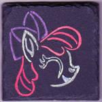 Apple Bloom Liquid Chalk on Slate Painting by Malte279