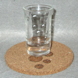 Derpy Cutie Mark shot glass and cork coaster by Malte279
