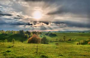 Springtime Sunset by enaruna