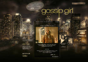 Gossip Girl: website design [1 tour] by Julia-Emerson