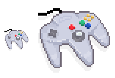 pixelated n64 pad by thekidnemo