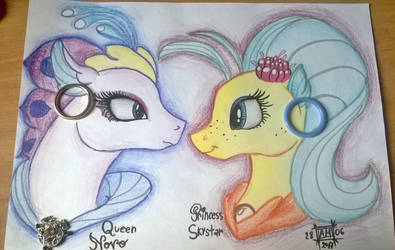 Princess SkyStar and Queen Novo by magicalnightstars