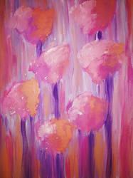 Sunset Flowers by sampoozi-art