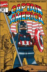 Lego Marvel Avengers Cover Captain America 383 by DanVeesenmeyer