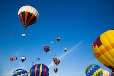 Vibrant Hot Air Balloons I by somadjinn