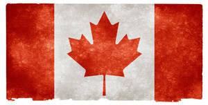 Canada Grunge Flag II by somadjinn