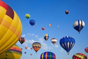 Vibrant Hot Air Balloons IV by somadjinn