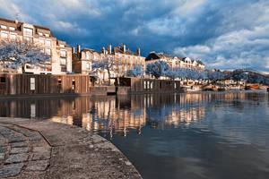 Wintry Nantes Riverside - free high res hdr stock by somadjinn