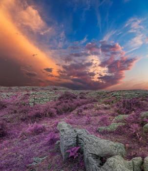 Lavender Poulnabrone Sunset by somadjinn