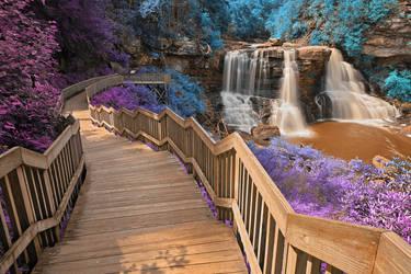 Blackwater Falls - Inca Summer Fantasy by somadjinn