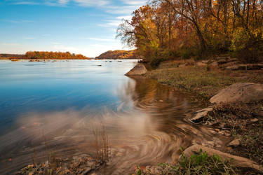 Autumn Susquehanna River by somadjinn