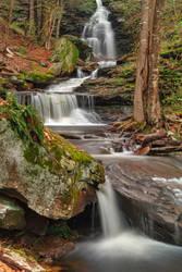 Ricketts Glen Waterfall Layers by somadjinn