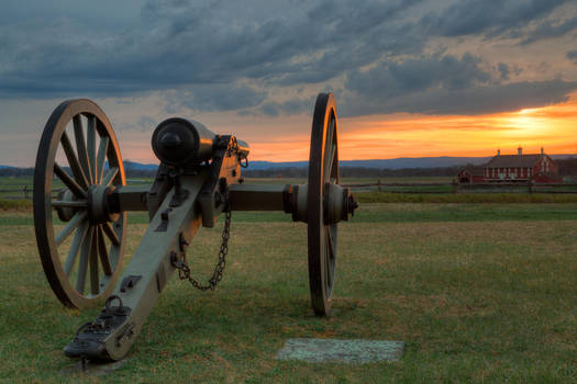 Gettysburg Cannon Sunset II by somadjinn
