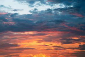 Vibrant Sunset Clouds by somadjinn