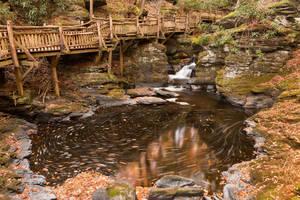Swirling Bushkill Fall Stream by somadjinn