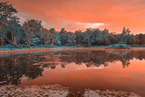 Opalescent Twilight Marsh by somadjinn