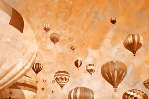 Vintage Acrylic Air Balloons by somadjinn