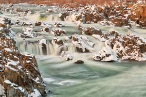 Great Falls Winter Jade Cascades by somadjinn