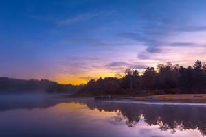Pendleton Dawn Fantasy Lake by somadjinn