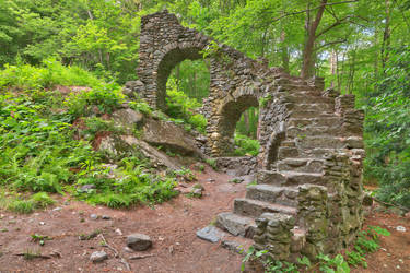 Forest Castle Ruins III by somadjinn