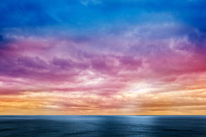 Rainbow Cloudscape by somadjinn
