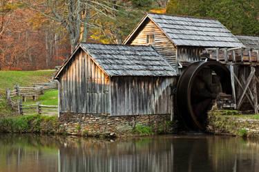 Autumn Mabry Mill by somadjinn