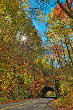Laurel Creek Sunburst Tunnel by somadjinn