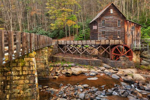 Glade Creek Grist Mill by somadjinn