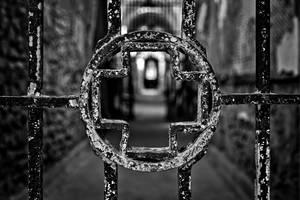 Prison Medical Ward - Black and White by somadjinn