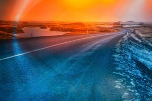 Rainbow Arch Road - Hofdi by somadjinn