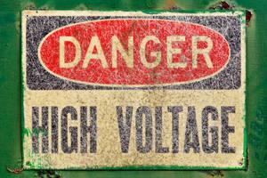 Danger Sign - High Voltage (freebie) by somadjinn