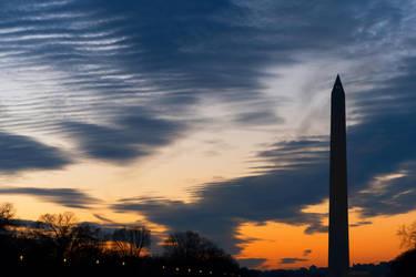 Washington Silhouette Monument (freebie) by somadjinn
